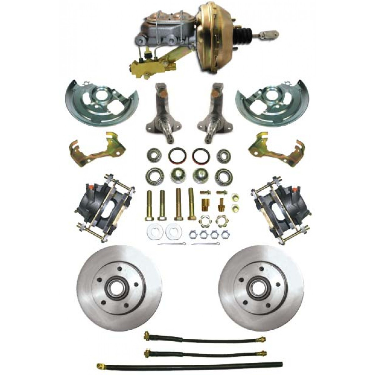 1962-1967 Chevy Nova Complete Power Disc Brake Kit - MBM DBK6267-PB-MC ...