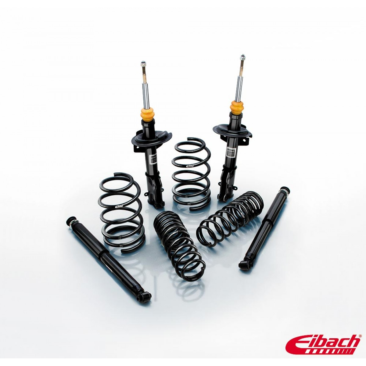 2005 2009 ford mustang pro system pro kit lowering springs pro damper shocks eibach. Black Bedroom Furniture Sets. Home Design Ideas