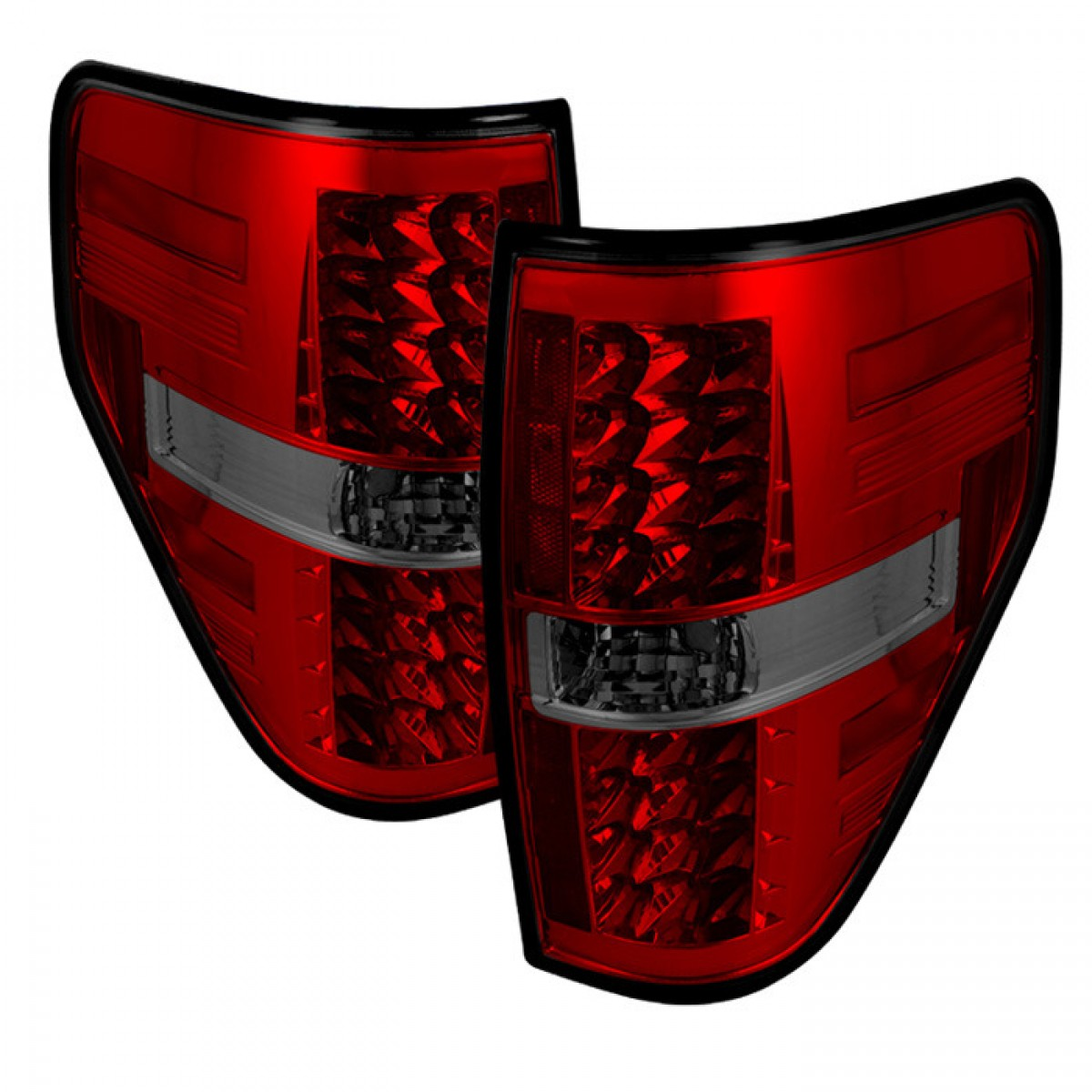 2009 14 ford f150 led tail lights red smoke. Black Bedroom Furniture Sets. Home Design Ideas