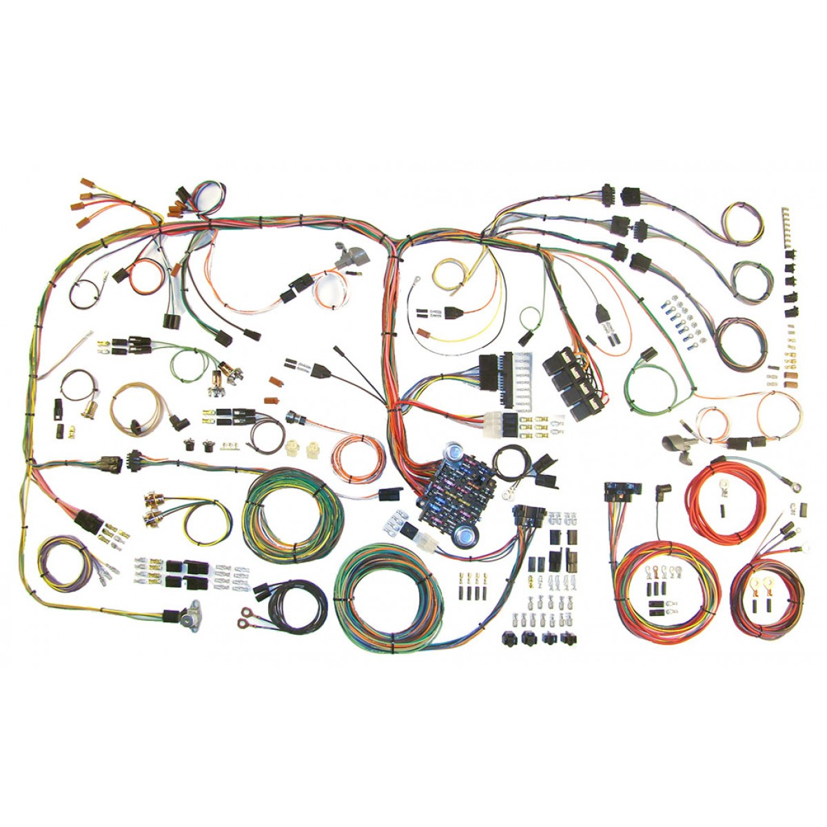 510289 complete wiring harness kit 1970 1974 cuda challenger part 510289 cuda wiring harness wiring harness kit 1970 1974 cuda & challenger part 510289 american