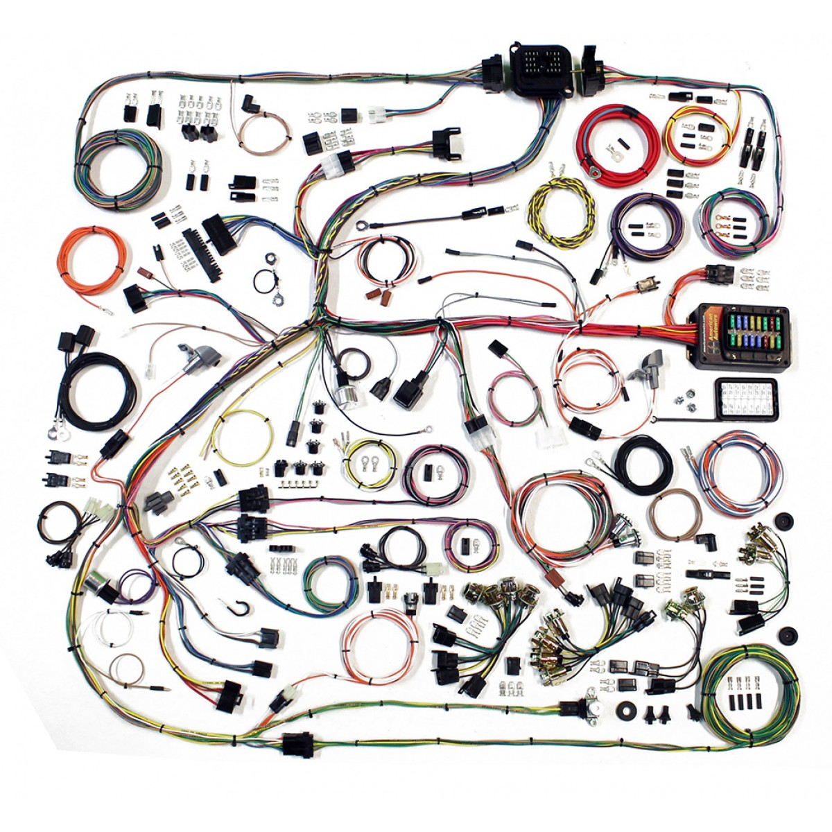Complete Wiring Harness Kit - 1968-70 Dodge Charger on radio harness, oxygen sensor extension harness, suspension harness, pony harness, amp bypass harness, battery harness, electrical harness, maxi-seal harness, obd0 to obd1 conversion harness, cable harness, dog harness, safety harness, alpine stereo harness, engine harness, fall protection harness, nakamichi harness, pet harness,
