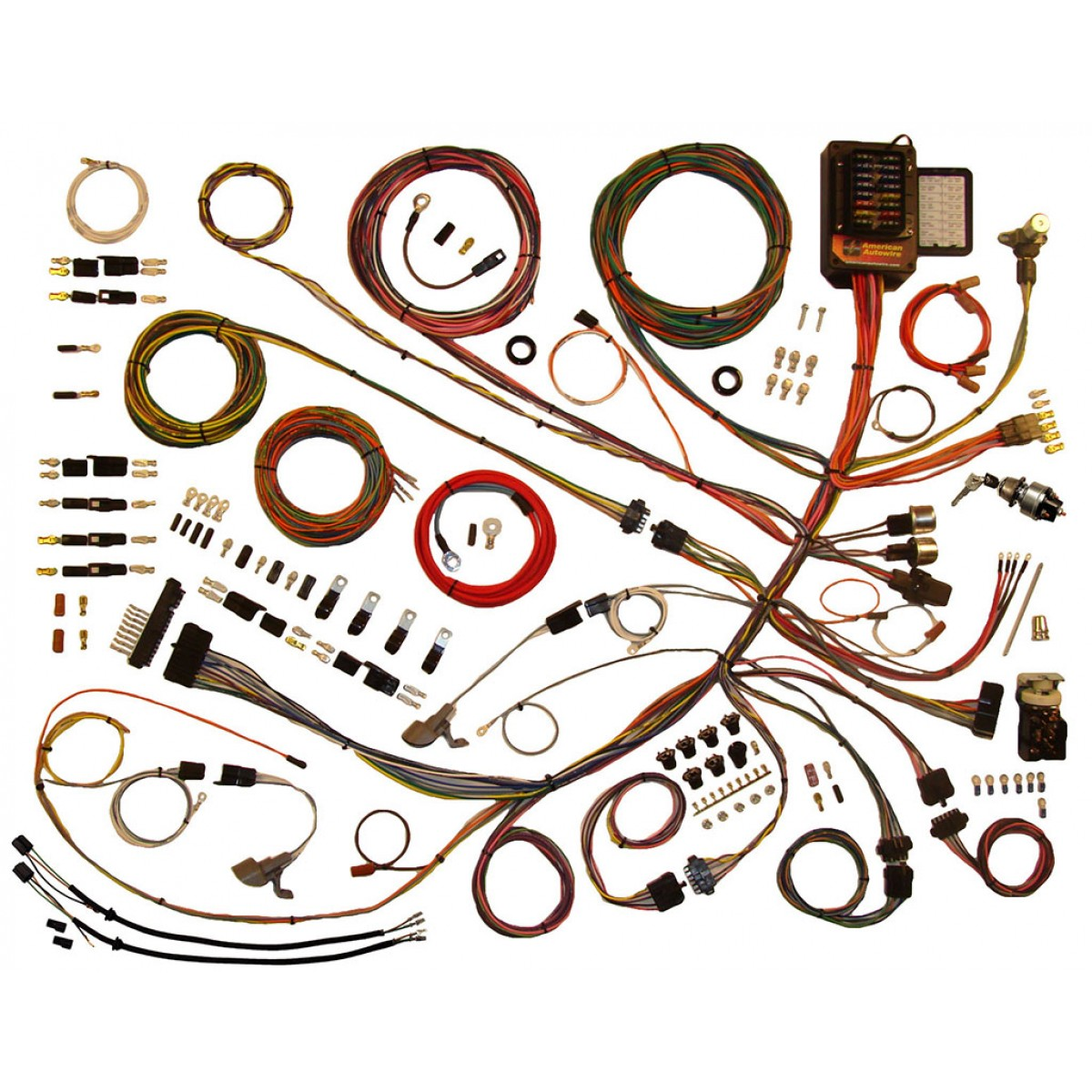 complete wiring harness kit 1953 1956 ford f100 part 510303 ford truck wiring harness f100 1953 1956 ford f100 wiring harness complete wiring harness kit ford truck wiring harness kits at eliteediting.co
