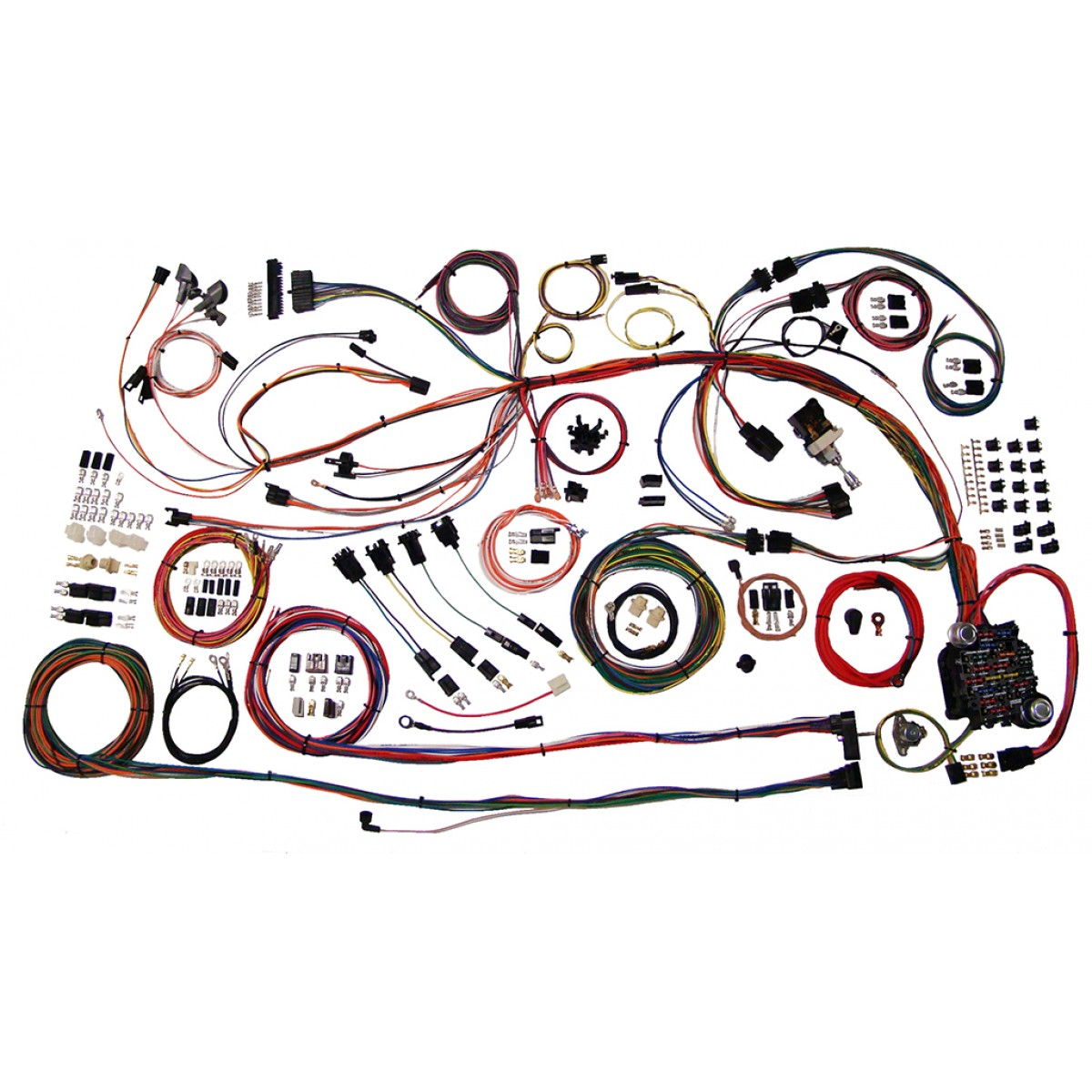 complete wiring harness kit 1968 1969 chevelle part 510158 68 69 chevelle full wire harness 510158_2 1968 1969 el camino wiring harness kit part 510158 1968 1969 1968 firebird engine wiring harness at metegol.co