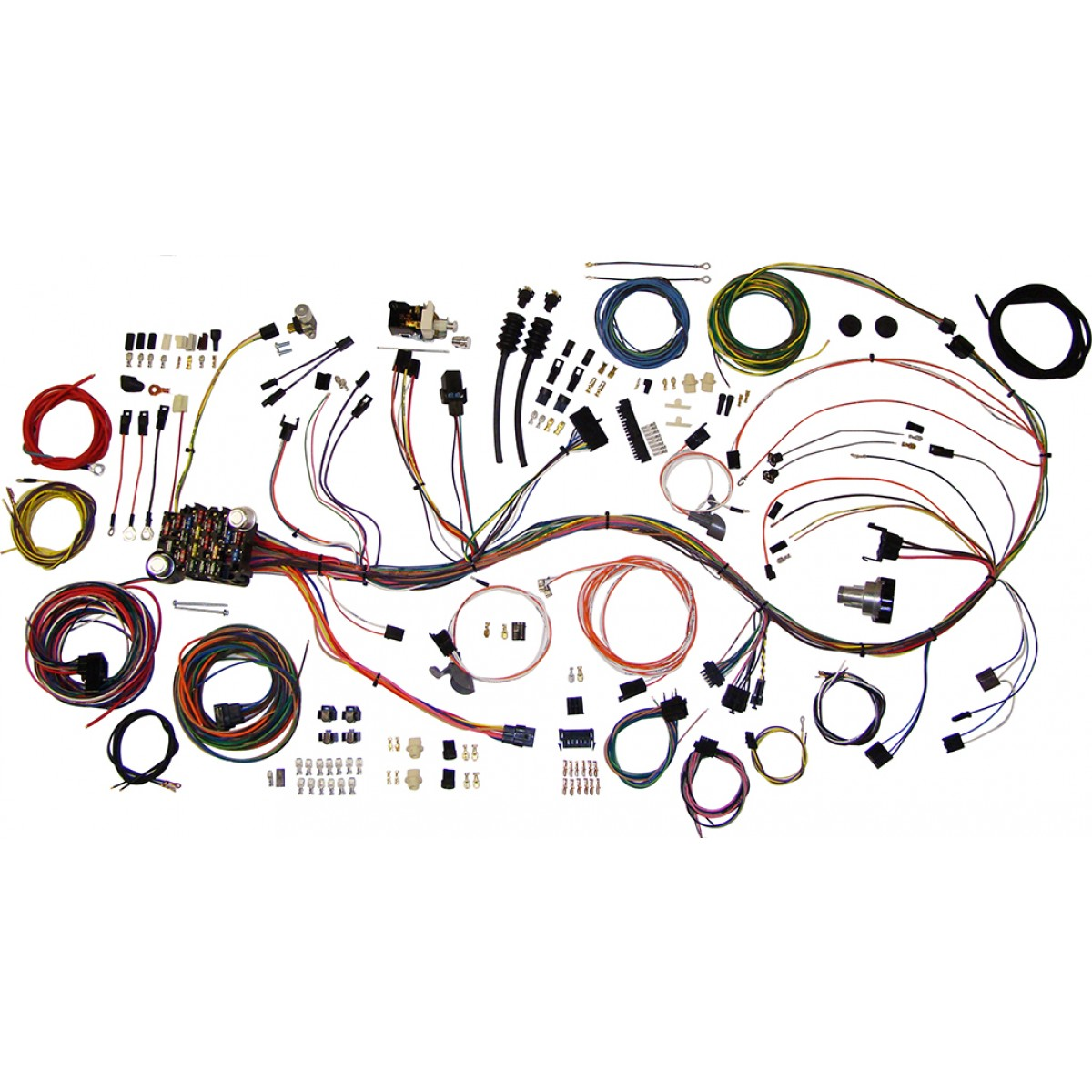 complete wiring harness kit 1969 1972 chevy truck part 510089 c10 c20 wire harness 1972 american auto wire code 510 wiring harness factory fitting Wire Harness Assembly at reclaimingppi.co