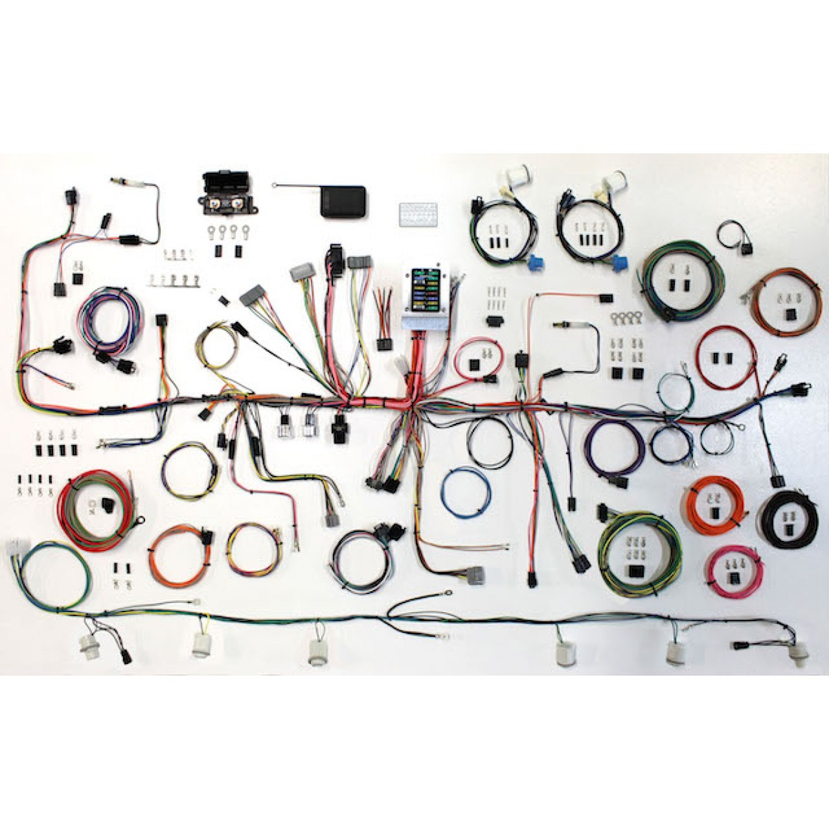 complete wiring harness kit 1987 1989 ford mustang part 510547 rh code510 com