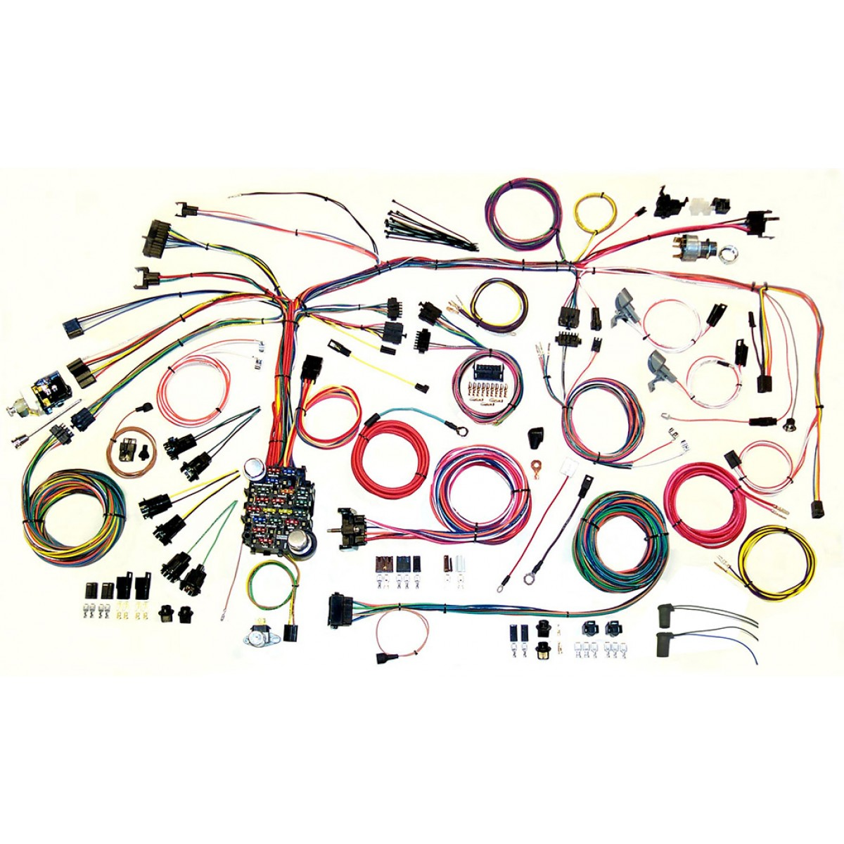 firebird wire harness complete wiring harness kit 1967 1968 firebird part 500886 1967 1968 pontiac firbird complete wiring harness kit 1967 1968 firebird engine wiring harness at metegol.co