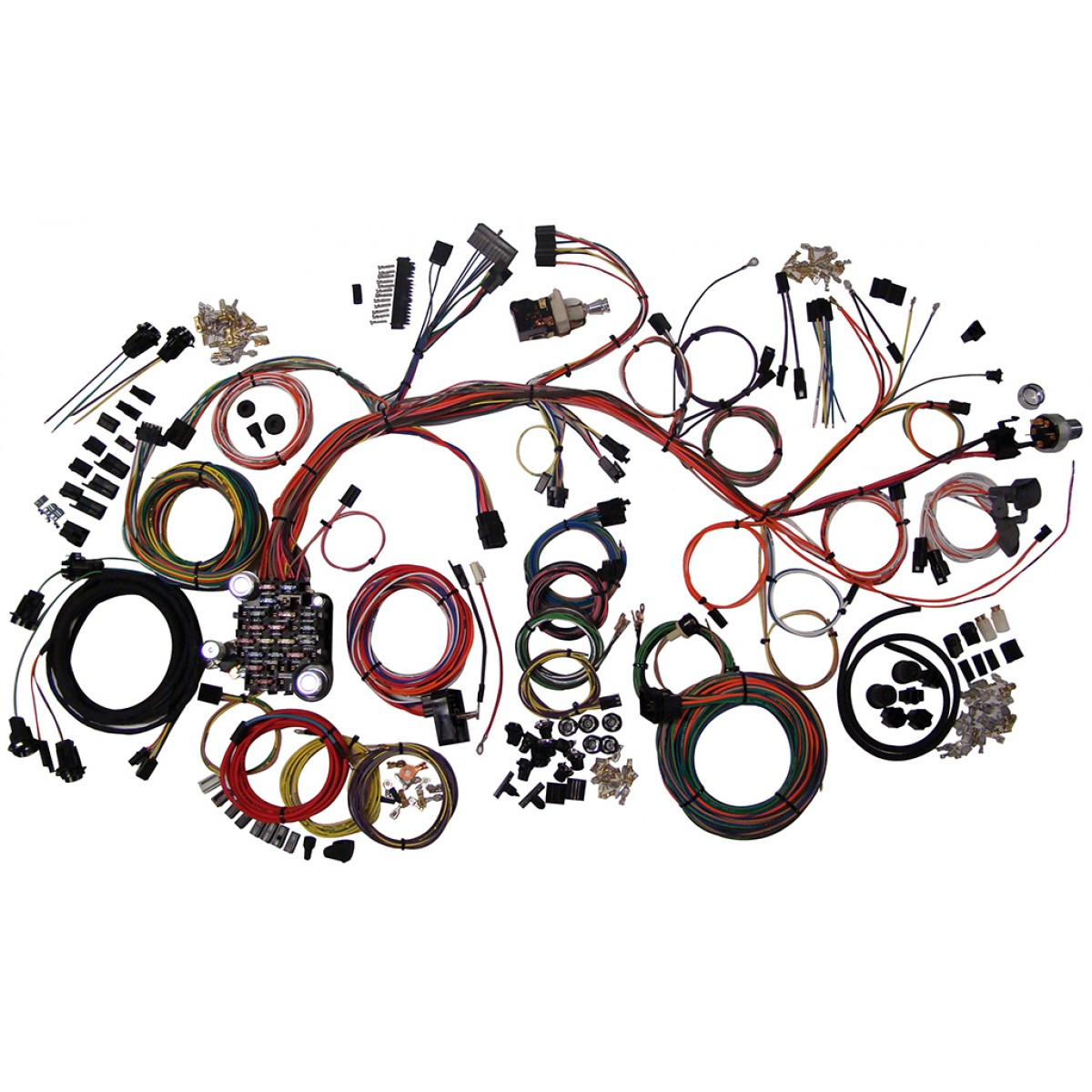 impala complete wiring harness kit 1961 1964 impala part 510063 61 64 impala full wire harness 1961 1964 impala wiring harness complete wiring harness kit full size jeep wiring harness at reclaimingppi.co