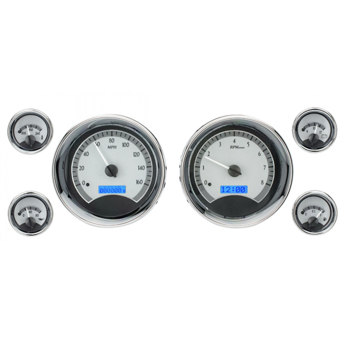 Digital Gauge Cluster : Dakota digital vhx universal six gauge round