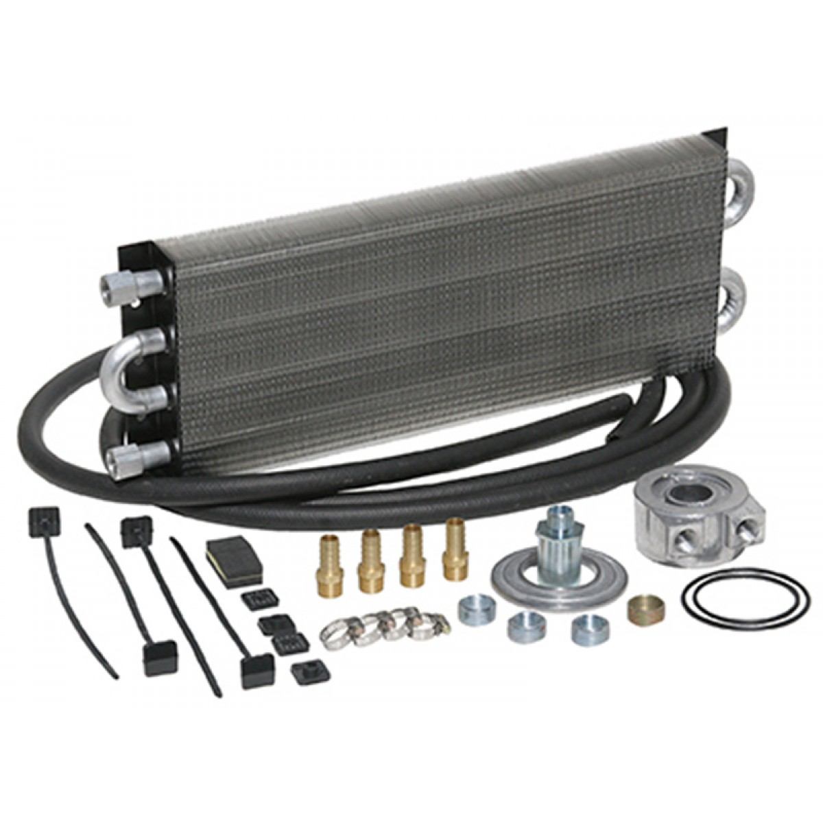 Universal Engine Oil Cooler Kit Sandwich Style 500 HP