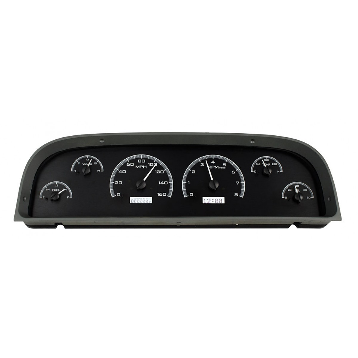 1960 63 chevy c10 pickup dakota digital gauges vhx system black
