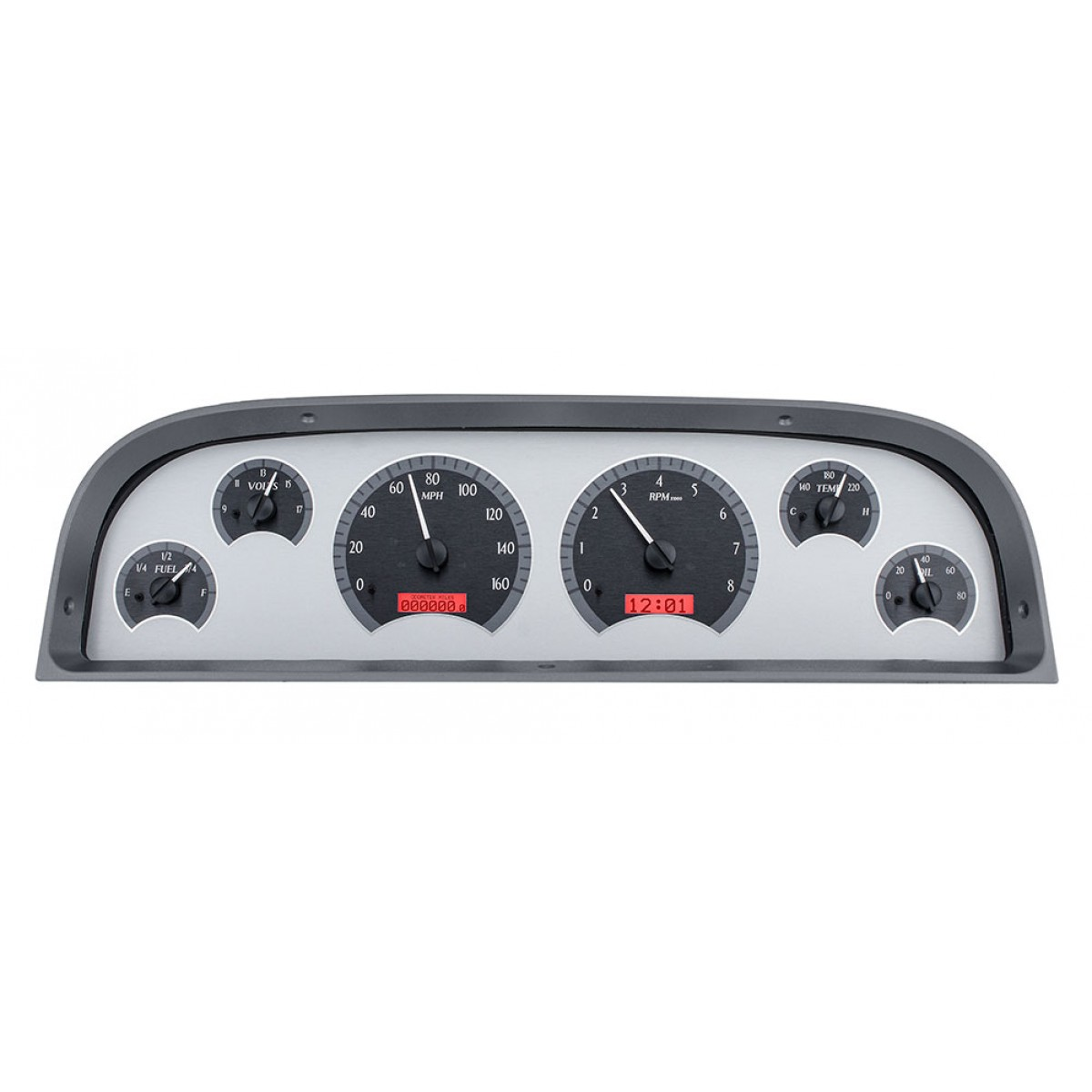 1960 63 chevy c10 pickup dakota digital gauges vhx system silver
