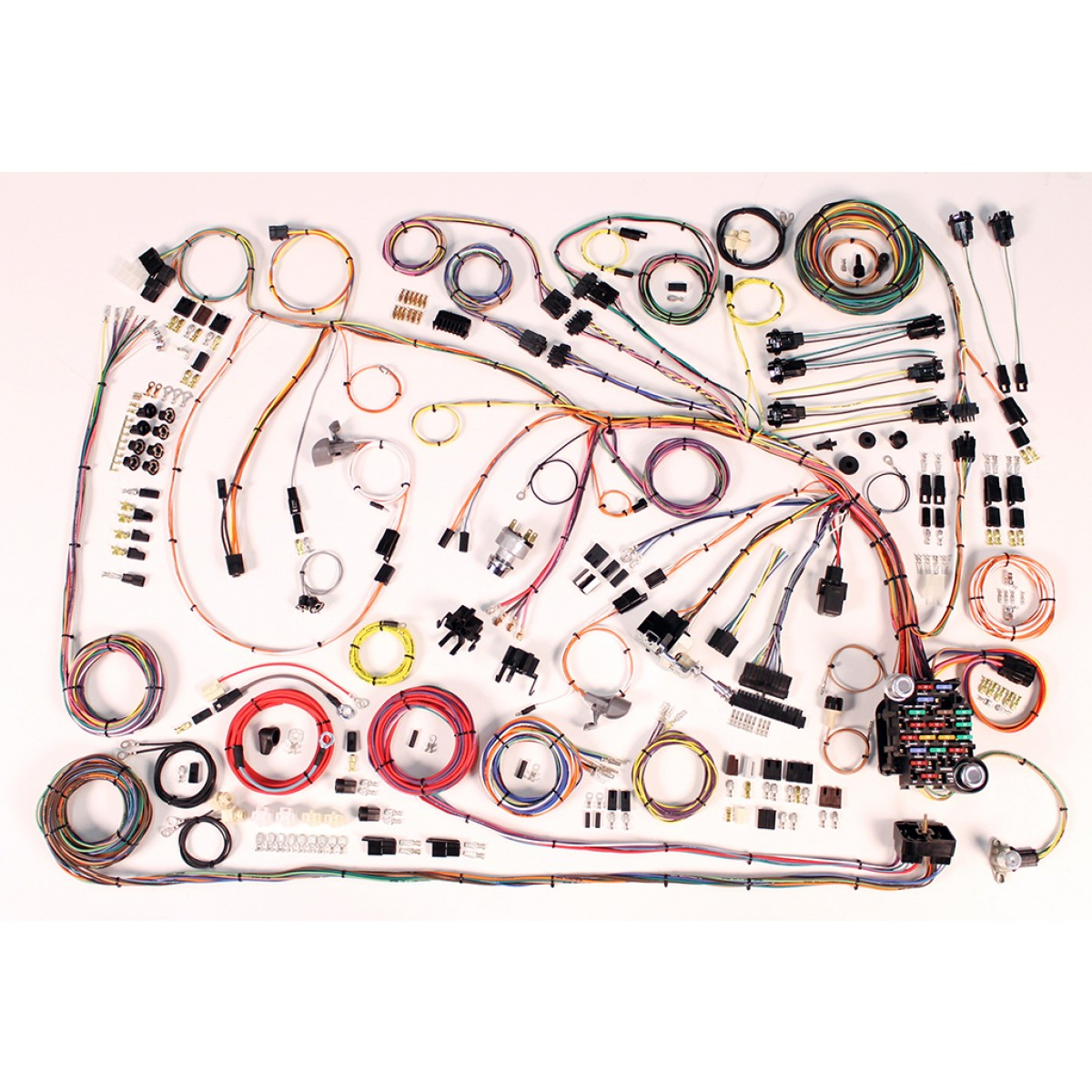 wiring harness kit 1966 1968 impala part 510372 66 68 impala full wire harness 510372 american auto wire code 510 wiring harness factory fitting aaw wiring harness at aneh.co