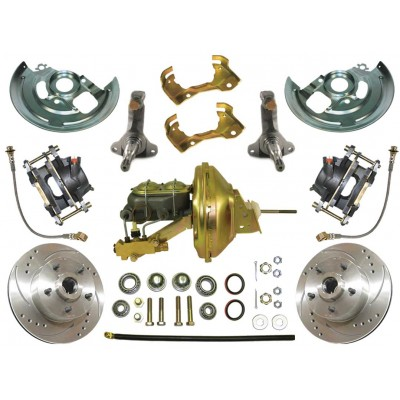 1964-1972 Chevy El Camino - Complete Power High performance Disc Brake Kit - MBM DBK6472LX-PB-MC-PVK