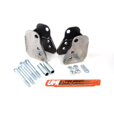 1982-2002 Chevrolet Camaro - Lower Control Arm Relocation Brackets Weld-In (Moser Housings) - UMI Performance # 2011