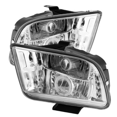 2005-2009 Ford Mustang Projector Headlights - CCFL Halo - Chrome