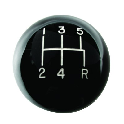 Classic Shift Knob 5 Speed Black - 12MMx1.75 Thread - Hurst Shifters # 1630114
