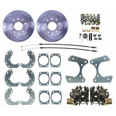 "Ford 9"" Rear-End High Performance Universal Disc Brake Kit - MBM DBK9LX"