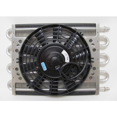 "8-pass Oil Cooler Coil & 10"" Electric Fan Assembly - Maxi-Cool Jr."