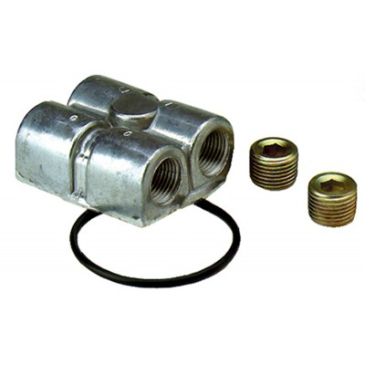 """Spin-On Oil Adapter, L&R 3/4""""-16"""