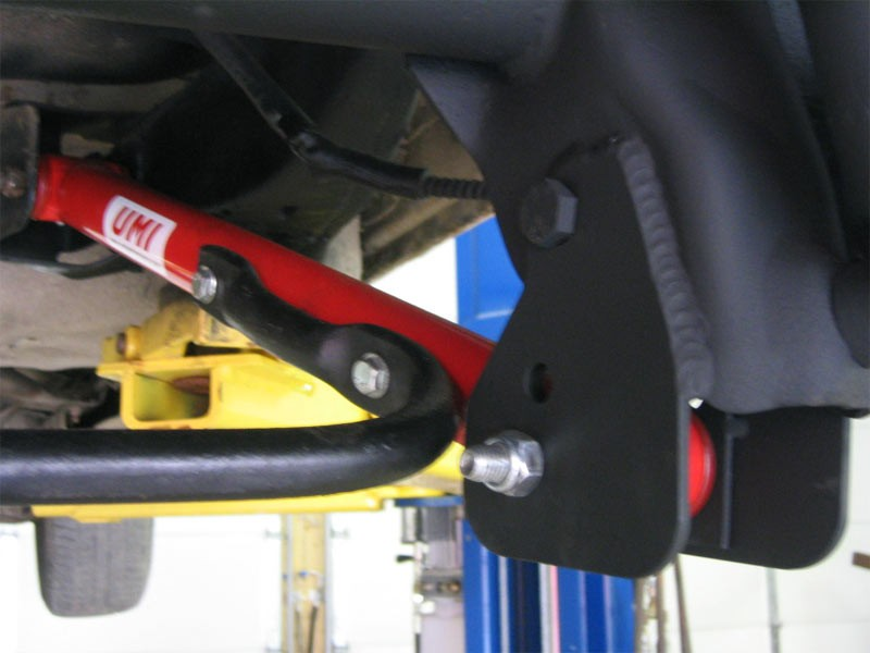 Pontiac Grand Prix Lemans Lower Control Arm Relocation Brackets Umi Performance Installed Control Arms on Grand Prix Shift Kit