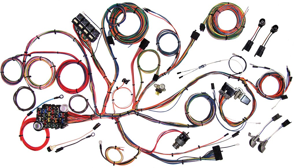 [DIAGRAM_38EU]  1964 - 1966 Ford Mustang Wire Harness Complete Wiring Harness Kit - 1964-1966  Ford Mustang Part# 510125 American Auto Wire | 1966 Ford Wiring Harness |  | Code510