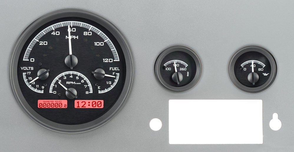 Jeep Digital Gauges : Jeep cj dakota digital gauges vhx system black