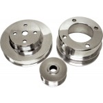 Billet Aluminum 1979-93 Ford Mustang 5.0 Serpentine Pulley Set - Polished
