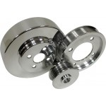 Billet Aluminum 1994-95 Ford Mustang 5.0 Serpentine Pulley Set - Polished