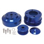 Billet Aluminum 1979-93 Ford Mustang 5.0 Serpentine Pulley Set - Blue
