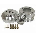 Billet Aluminum 1979-93 Ford Mustang 5.0 Serpentine Pulley Set - Chrome