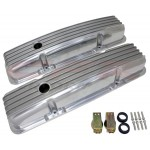1958-86 Chevy Small Block Polished Aluminum Valve Covers - Full Finned