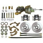 1959-64 Chevy Complete full power disc brake kit - MBM DBK5964-PB-MC-PVK
