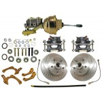 1959-64 Chevy Complete High Performance Full Power Disc Brake Kit - MBM DBK5964LX-PB-MC-PVK