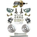 1962-1967 Chevy Nova Complete Power Disc Brake Kit - MBM DBK6267-PB-MC-PVK