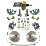 1962-1967 Chevy Nova Complete Power High Performance Disc Brake Kit - MBM DBK6267LX-PB-MC-PVK