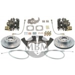 1964-1972 Chevy Monte Carlo High Performance Rear Disc Brake Kit - MBM DBK1012LX