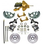 1964-1972 Pontiac LeMans, GTO, Tempest Complete Power Disc Brake Kit - MBM DBK6472-PB-MC-PVK