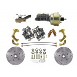 1965-1968 Chevy Impala / Belair Complete High Performance Front Disc Brake Conversion Kit - MBM DBK6568LX-PB-MC-PVK