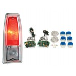1966-67 Chevy Nova / Nova Wagon LED Tail Lights - Dakota Digital LAT-NR160