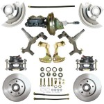 "1967-1969 Pontiac Firebird - 2"" Drop Complete Power Disc Brake Kit - MBM DBK6472D-PB-MC-PVK"