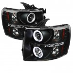 2007-2013 Chevy Silverado Projector Headlights CCFL Halo