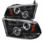 2009-2014 Dodge Ram Projector Headlights - Black