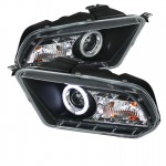 2010-2013 Ford Mustang Projector Headlights - CCFL Halo - Black