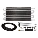 "Aluminum Emc Universal Transmission Oil Cooler 12""X7.5"" - Natural"