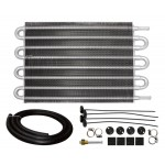 "Aluminum Emc Universal Transmission Oil Cooler 12""X10"" - Natural"