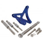 Billet Aluminum 1979-93 Ford Mustang 5.0 Alternator Bracket Set - Blue