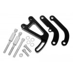 Billet Aluminum Chevy Sb Power Steering Bracket Set (LWP) - Black