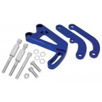 Billet Aluminum Chevy Sb Power Steering Bracket Set (LWP) - Blue