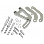 Billet Aluminum Chevy Sb Power Steering Bracket Set (LWP) - Chrome