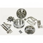 Billet Aluminum Chevy Sb Alternator Bracket & Pulley Kit Lwp -CHROME